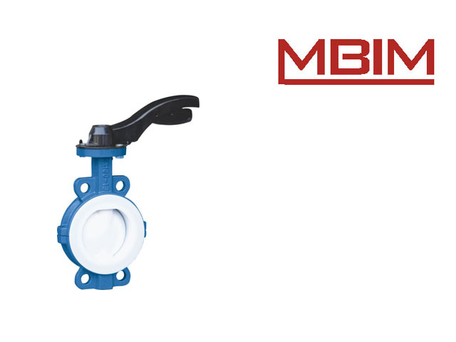 Wafer Type FEP Lined Butterfly Valve